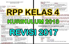 RPP Kelas 4/IV SD/MI Kurikulum 2013 Edisi Revisi 2017