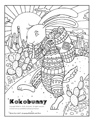 http://www.markix.net/fun/kokobunny_coloring_page_for_adults.html