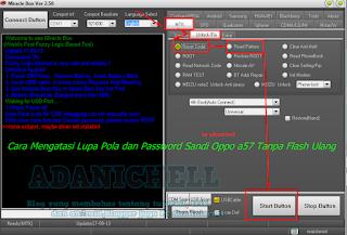 Cara Mengatasi Lupa Pola dan Password Sandi Oppo a57 Tanpa Flash Ulang