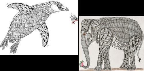 00-Adri-van-Garderen-Animals-Given-the-Zentangle-Treatment-www-designstack-co