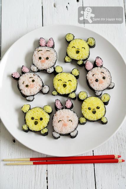 Disney Pooh and Piglet Tsum Tsum Sushi