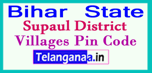 Supaul Pin Codes in Bihar State