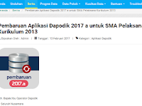 Cara Update Aplikasi Dapodik Versi 2017a yang Benar