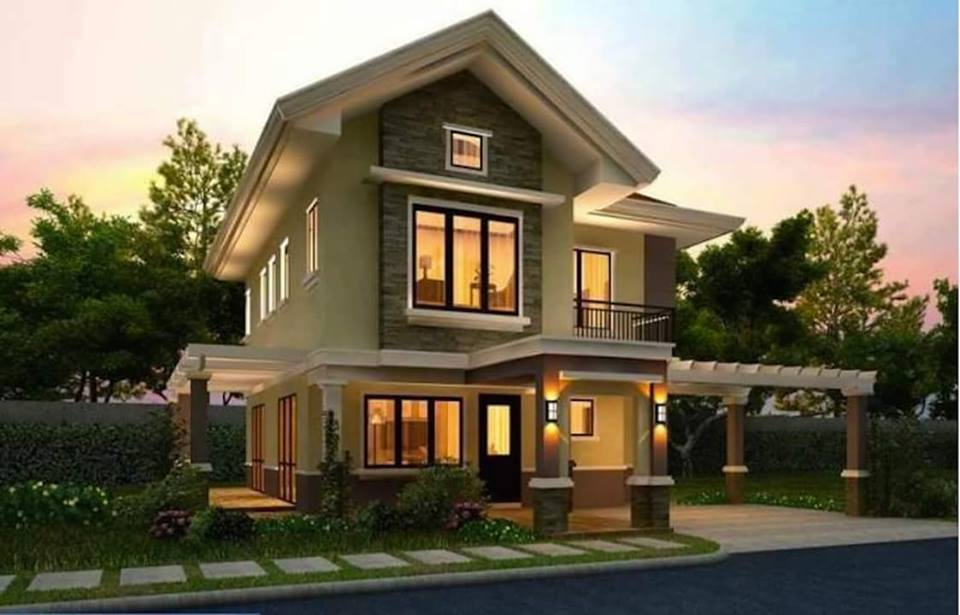 20 images of beautiful two story houses bahay ofw for Beautiful double story houses