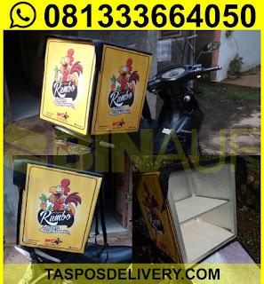tas delivery makanan, box delivery motor ayam rambo jogja