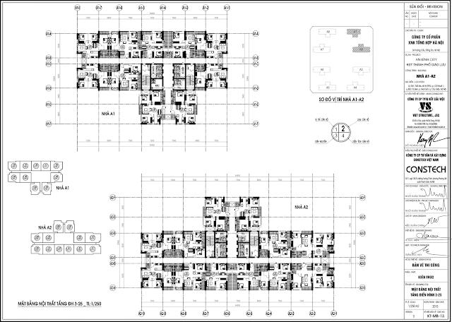 Mặt bằng chung cư An Bình City A1A2