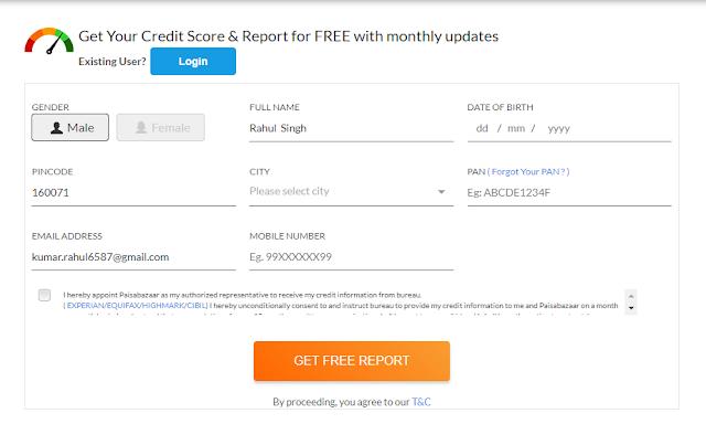 Get free CIBIL score