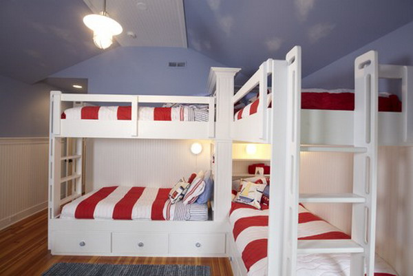 Double Deck Bed For Kids Bedroom Design