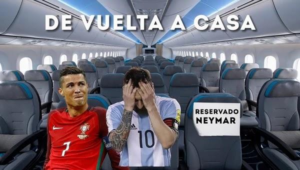 Ambos astros quedaron afuera, esperan por Neymar / RRSS