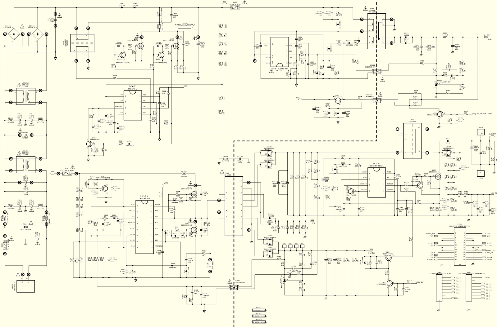 Lg Eay62512702 Smps Circuit Diagram Used With Lg47lm8600 Pwb Foil Side