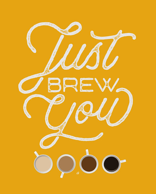 LostBumblebee ©2018 MDBN Just Brew You, Coffee Print, Free for personal use ONLY, must link back to www.lostbumblebee.net, coffee, printable, coffee print, cafe, caffeine, coffer love