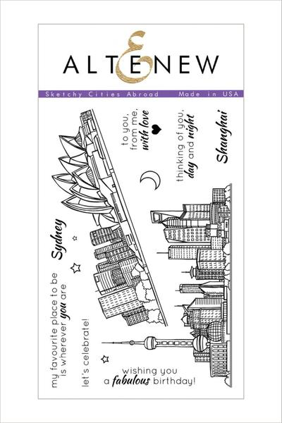 Altenew - Sketchy Cities Abroad Stamp Set