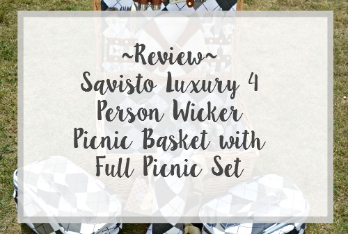 Savisto Luxury 4 Person Wicker Picnic Basket with Full Picnic Set  review