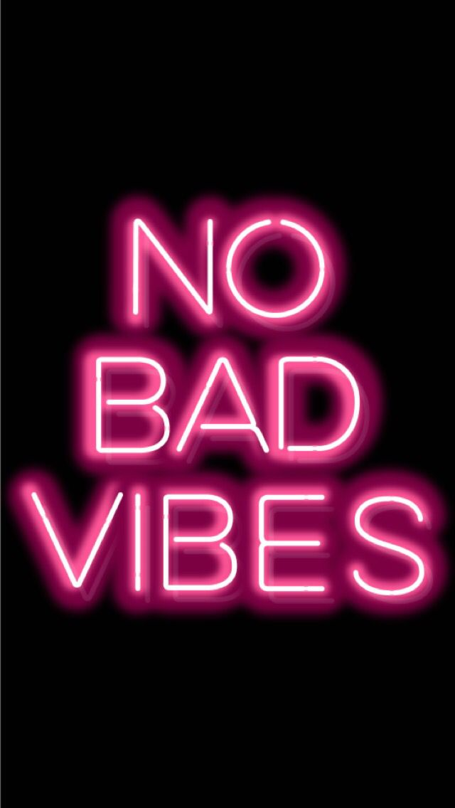 No Bad Vibes, Good Vibes Only, Please! #quote #feelings #vibes #thoughs