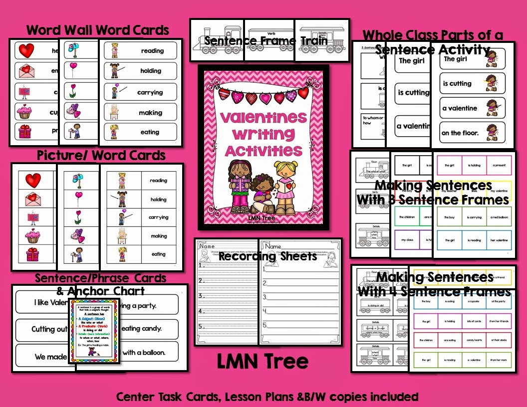 Lmn Tree Valentine S Day Writing Activities And Free
