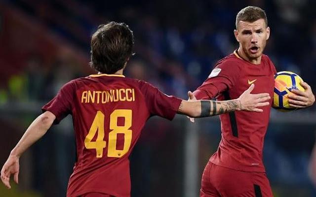 Mirko Antonucci Edin Dzeko Roma