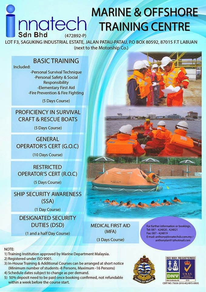 Jawatan Kosong: MARINE AND OFFSHORE TRAINING CENTER