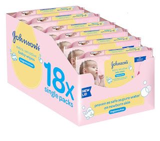 SUPERB CHEAP in THE UK Johnson's Baby Extra Sensitive Fragrance Free Wipes 18 pack £11.30
