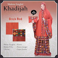 Mukena Bali khadijah songket red Brick