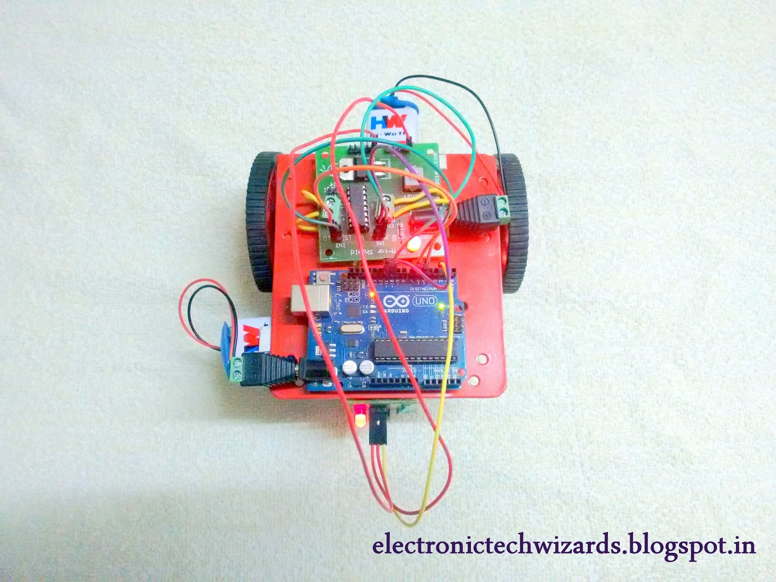 Electronictechwizards 2016 Line Following Robot Without Microcontroller Simple Follower