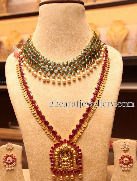 Ruby Long Chain and Choker