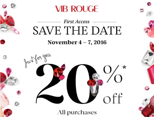 Sephora VIB Rouge 20% Off Holiday Sale Event