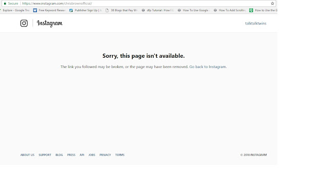 Chris Brown deletes his official Instagram page