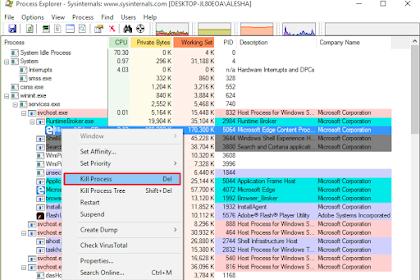 Cara Mematikan Program Berjalan Dengan Process Xplorer