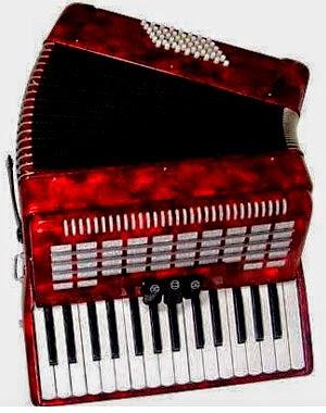 Alat musik accordion Sumatera Selatan
