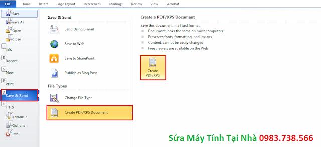 Đặt mật khẩu file PDF với Word - H07