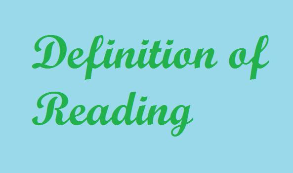 definisi reading