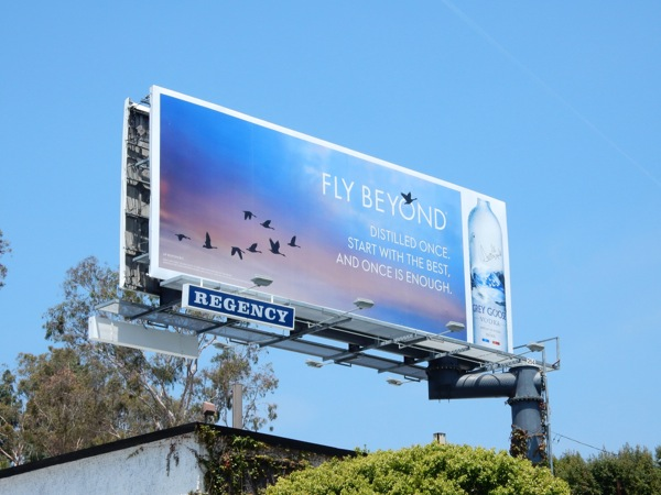 Grey Goose Fly Beyond Distilled once billboard