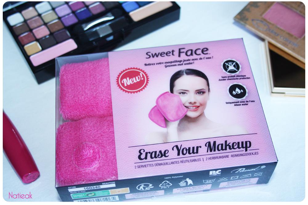 Sweet Face, la serviette démaquillante à l'eau