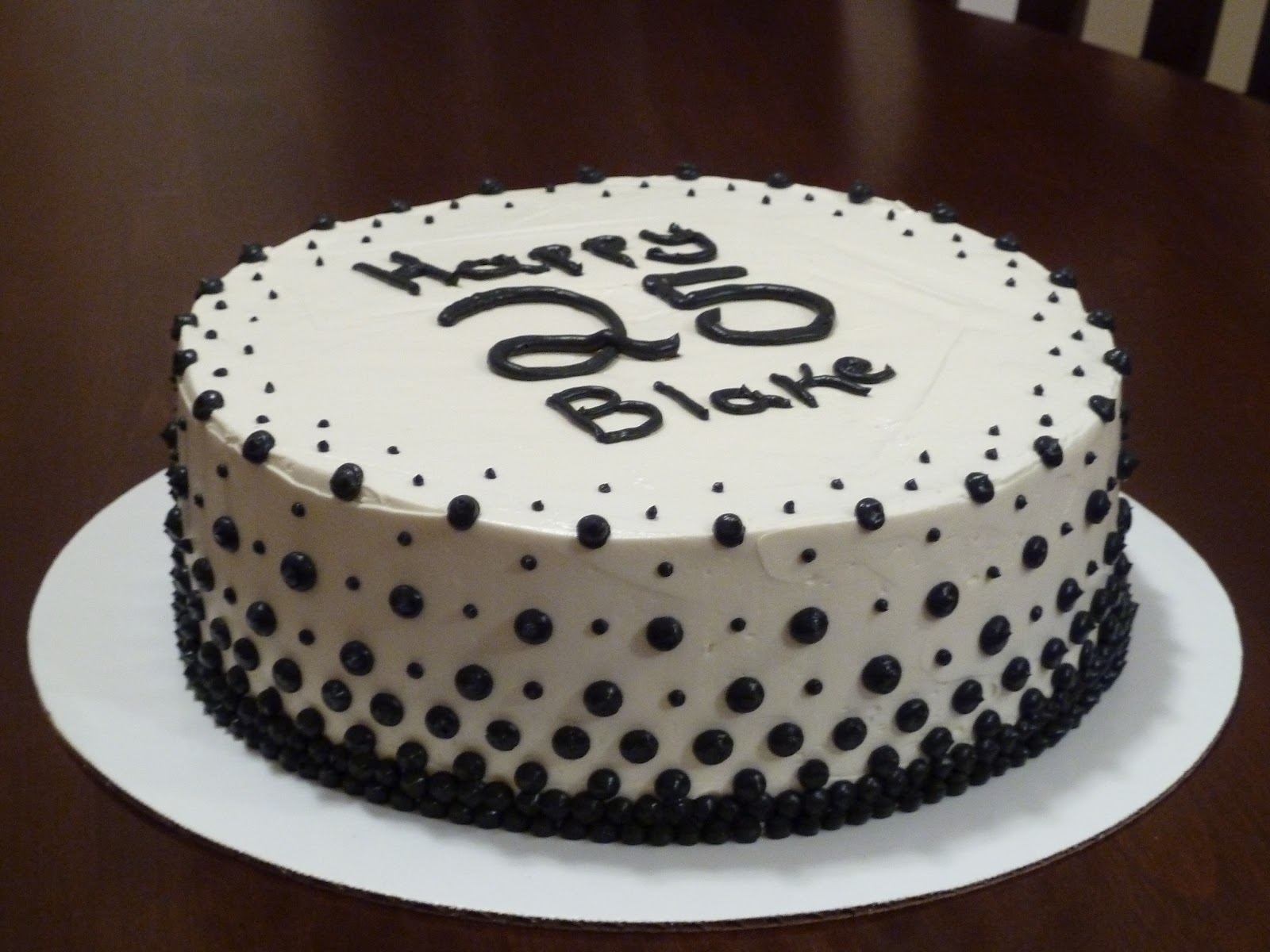 LaMare Bakery: Red Velvet Black And White Birthday Cake