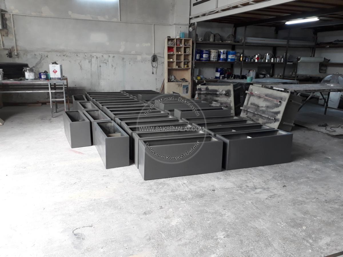 Dekoratif fiber polyester saksı üretim imalatları / Otel - Ev - Kurum - Ofis - Cafe - Restaurant - Saksıları üretimi