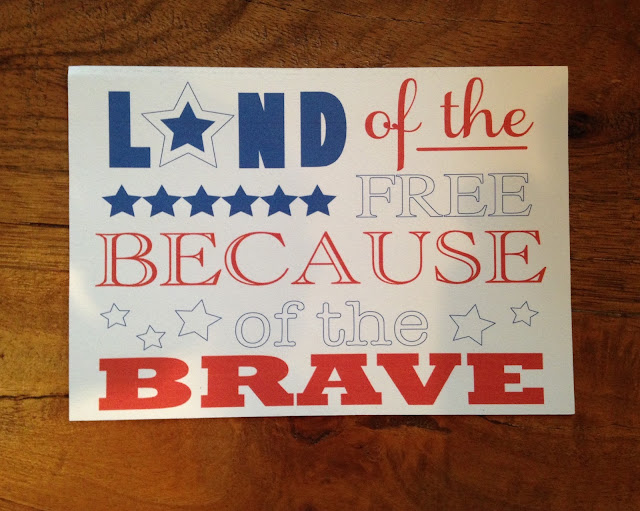 Silhouette Studio, free cut file, July 4th, land of the free because of the brave