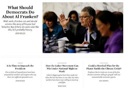 Liberal websites absorb/process the Al Franken news, part 5: The Nation.
