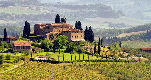 Vinícolas na região de Chianti em Lucca