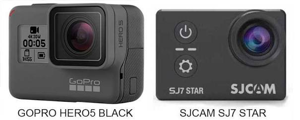 GoPro Hero5 Black Vs SJCAM SJ7 Star 2018