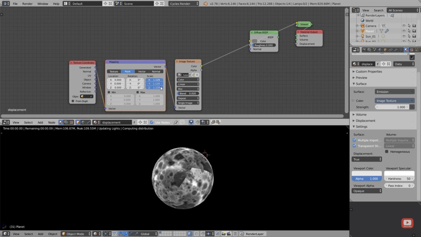 Blender 2 6 Character Modeling Tutorial : Micropolygon displacement in blender part cg tutorial