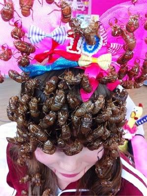 Aneh-Tapi-Nyata-Seluruh-Kepala-Wanita-Ini-Ditutupi-Kecoa