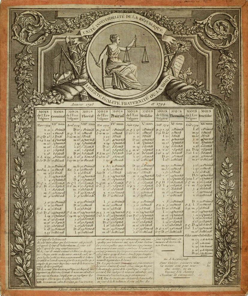 Le Calendrier Revolutionnaire.Calendrier Revolutionnaire Archives