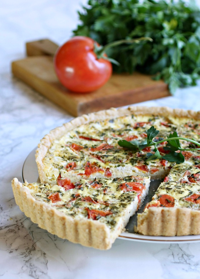 Egg, Tomato and Feta Quiche with Za'atar
