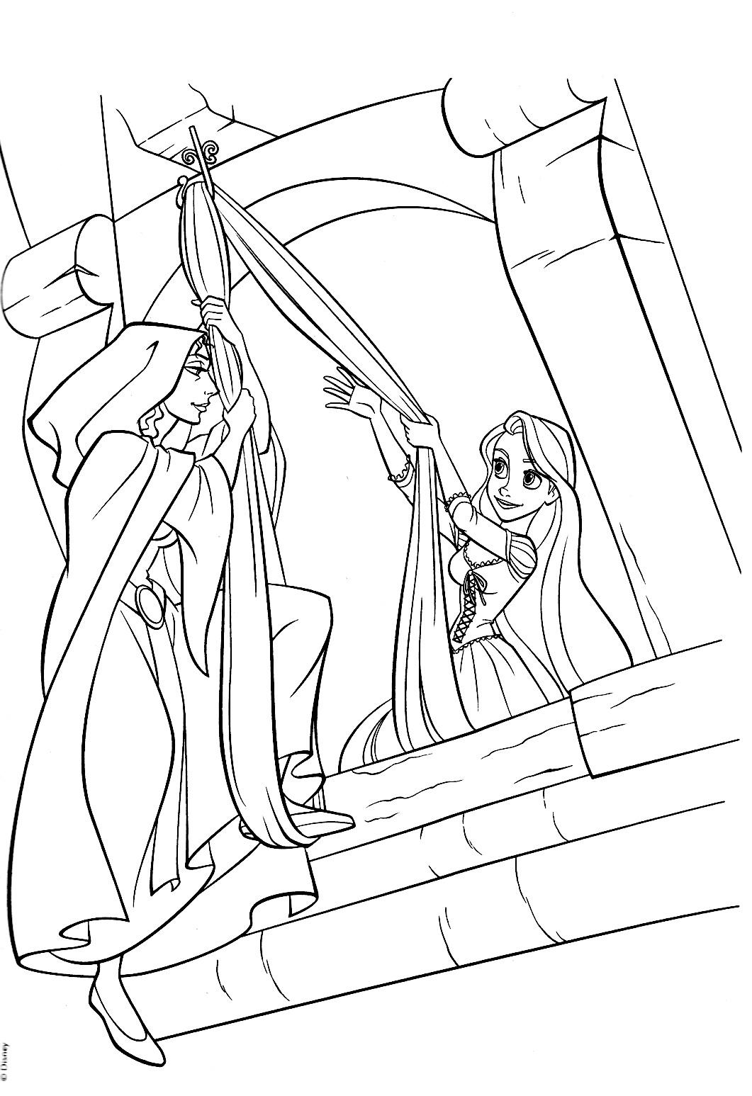 Imagens Para Colorir Da Rapunzel