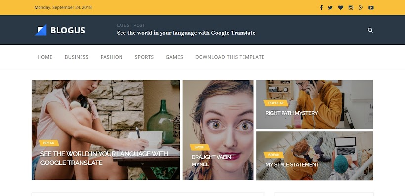 Blogus Free Blogger Template