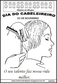 Dia do cabeleireiro -para colorir