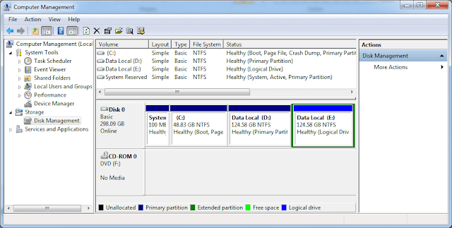 Menghapus Partisi Harddisk di Windows