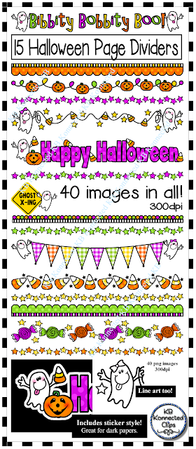 KB   Konnected Clips: Oodles of Halloween Page Dividers