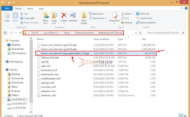 gameloop temp folder location