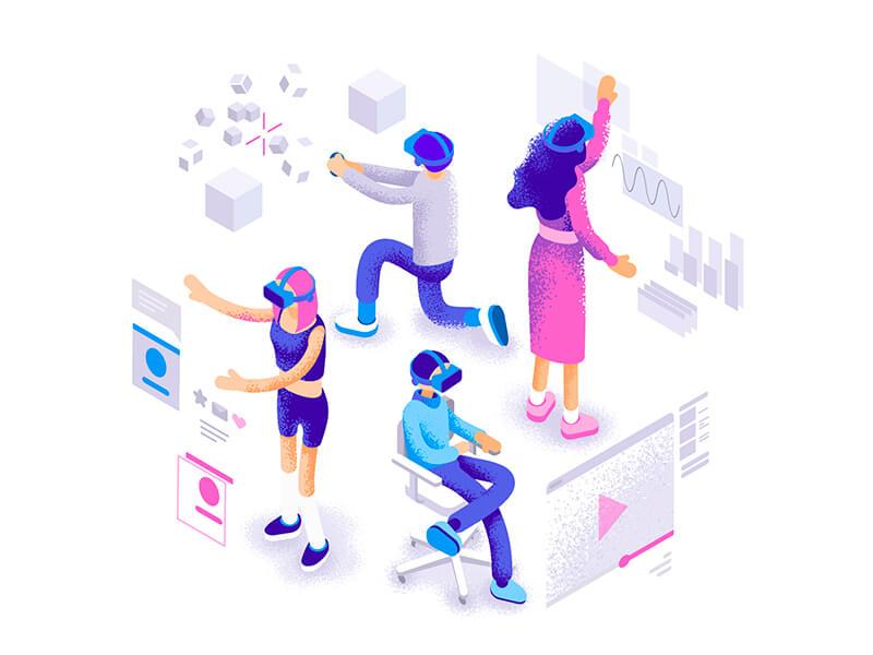 Trend Desain Grafis 2019 - Isometrics Illustration
